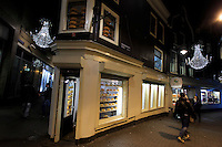 The Kalverstraat is a very popular shopping street in Amsterdam, The Netherlands