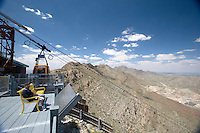 Wyler Tramway takes you to the top of Mount Franklin in El Paso, Texas.