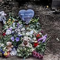 Nederland, Amsterdam, 29 augustus 2016.<br /> Op de Amsterdamse begraafplaats Sint Barbara is maandagmiddag een afscheidsdienst voor de baby die begin juni dood werd aangetroffen bij de Sloterplas.<br /> Het lichaampje van het vermoedelijk pasgeboren, voldragen jongetje werd op 8 juni aan de waterkant bij de oostoever van de plas aangetroffen door een wandelaar die zijn hond uitliet. <br /> <br /> <br /> <br /> Foto: Jean-Pierre Jans