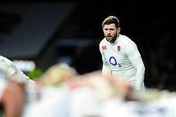 Elliot Daly of England watches a scrum - Mandatory byline: Patrick Khachfe/JMP - 07966 386802 - 27/02/2016 - RUGBY UNION - Twickenham Stadium - London, England - England v Ireland - RBS Six Nations.
