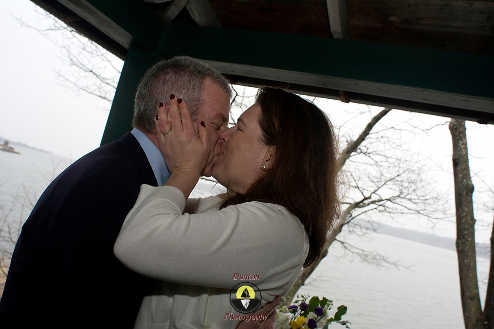 YARMOUTH Maine --  4/12/17 --   Rich Adams and Christa Gibson married today at Princes Point. <br /> Photo by Roger S. Duncan released for all purposes to Rich Adams and Christa Gibson