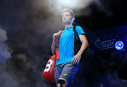 David Goffin arrives at the arena during day eight of the NITTO ATP World Tour Finals at the O2 Arena, London.