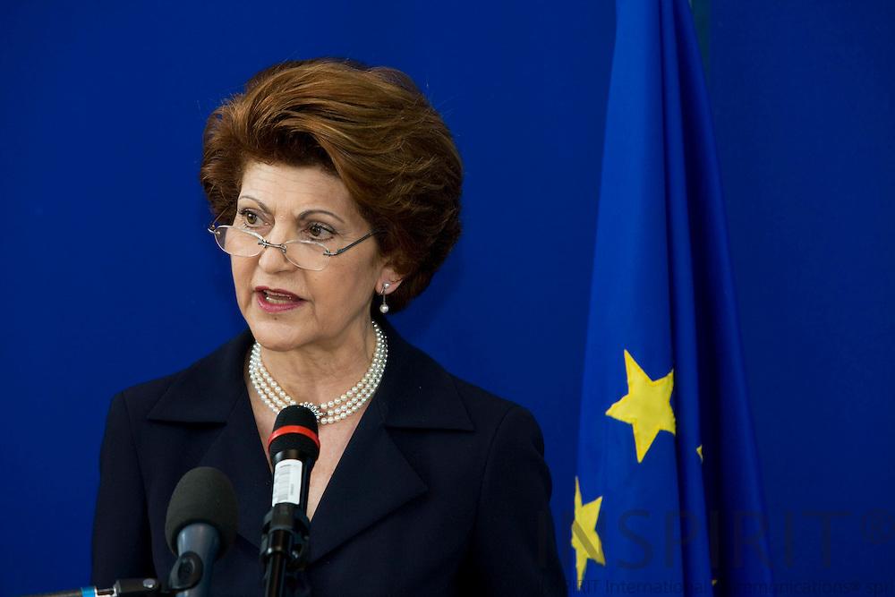 BRUSSELS - BELGIUM - 13 JUNE 2008 -- EU Commissioner Androlla VASSILIOU.  Photo: Erik Luntang