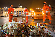 New Year clean up in Berlin