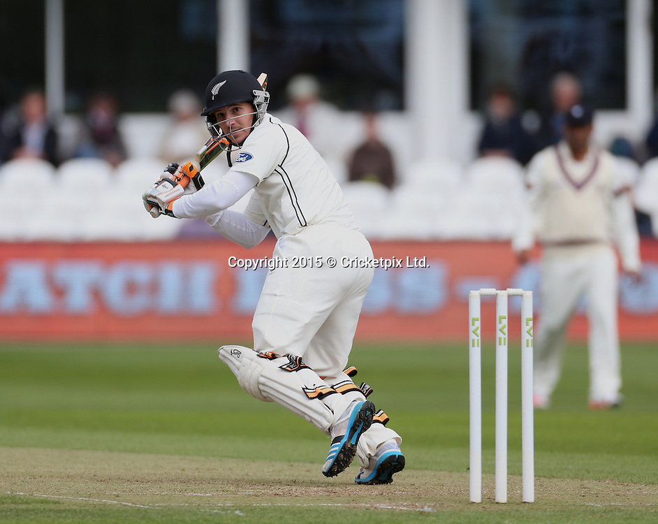 BJ Watling bats during the four day game between Somerset and a New Zealand XI at the County Ground, Taunton. Photo: Graham Morris/www.cricketpix.com (Tel: +44 (0)20 8969 4192; Email: graham@cricketpix.com) 09052015