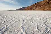 The Salt Flats in Death Valley National Park in California.