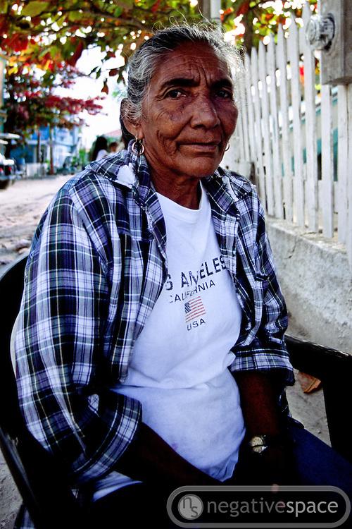 Elderly lady, San Pedro, Ambergris Caye, Belize