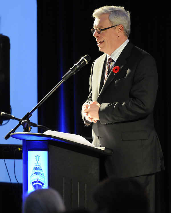 Manitoba Premier Greg Selinger at the opening banquet of the 2010 MasterCard Memorial Cup in Brandon, MB on Thursday May 13, 2010. Photo by Aaron Bell/CHL images