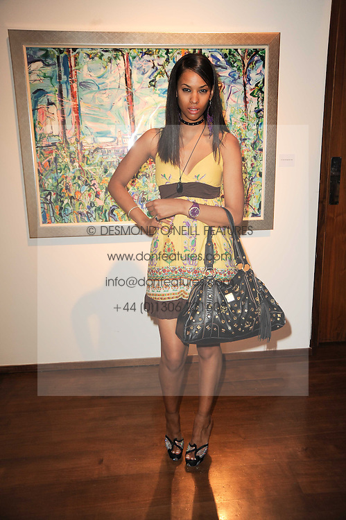 JOY VIELI at a private view of Sacha Jafri's paintings entitled 'London to India' held in aid of The Elephant Family charity at 23 Macklin Street, Covent Garden, London on 3rd June 2010.