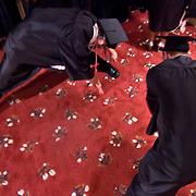 060311 Wilmington DE: Cab Calloway students performing precommencement stretching before Cab Calloway commencement exercise Friday, June 3, 2011 at The Grand Opera House In Wilmington Delaware...Special to The News Journal/SAQUAN STIMPSON