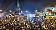 François Hollande élu président de la République, célébration de la victoire à la Bastille