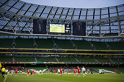 DUBLIN, REPUBLIC OF IRELAND - Friday, May 27, 2011: Wales' take on Northern Ireland in a near empty stadium during the Carling Nations Cup match at the Aviva Stadium (Lansdowne Road). (Photo by David Rawcliffe/Propaganda)
