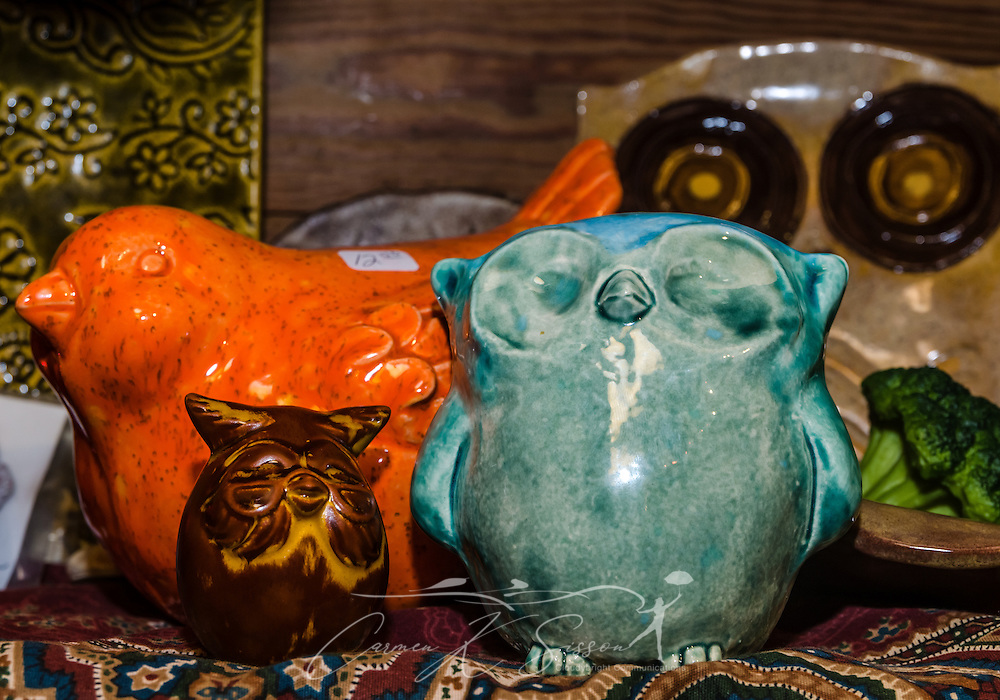 The Log Cabin Gift Shop sells a wide variety of lovally-made items, including pottery made onsite at the Children of God pottery studio. (Photo by Carmen K. Sisson/Cloudybright)