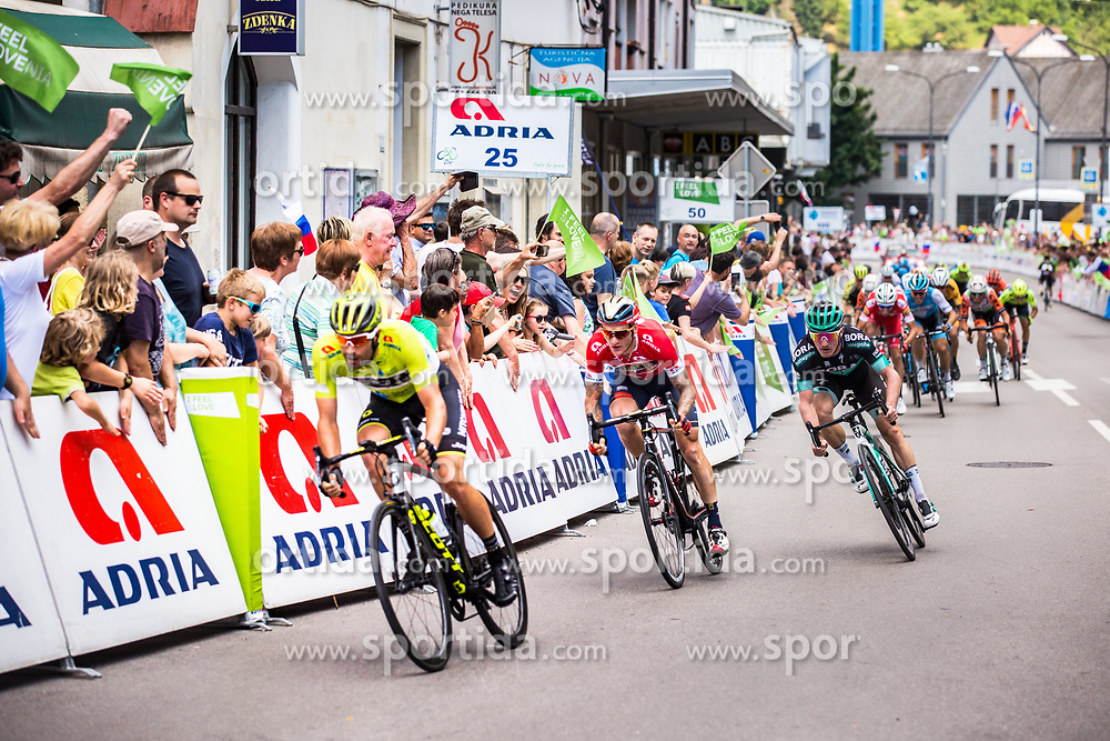 Michael Schwarzmann (GER) of Bora - Hansgrohe attacking before finish of 3rd Stage of 26th Tour of Slovenia 2019 cycling race between Zalec and Idrija (169,8 km), on June 21, 2019 in Slovenia. Photo by Peter Podobnik / Sportida