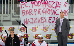 Matjaz Kopitar, head coach of Slovenia during ice-hockey match between Slovenia and Ukraine at IIHF World Championship DIV. I Group A Slovenia 2012, on April 19, 2012 in Arena Stozice, Ljubljana, Slovenia. Slovenia defeated Ukraine 3-2. (Photo by Vid Ponikvar / Sportida.com)