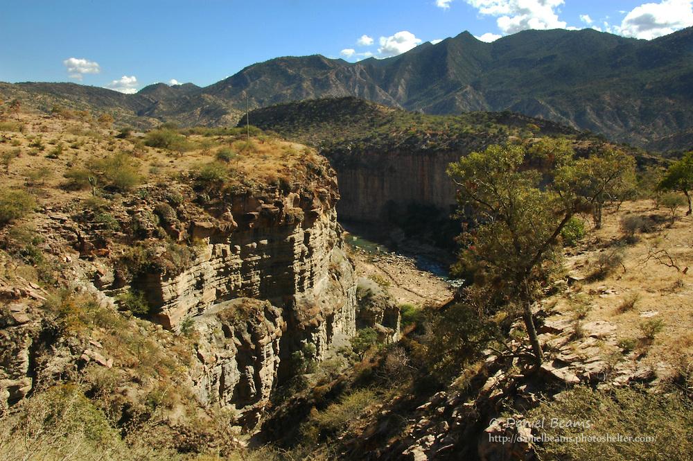 River canyon near Aiquile, Cochabamba, Bolivia