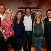 NLD/Amsterdam/20100202 - Perspresentatie X-Factor 2010, jury, Gordon Heuckeroth, Stacy Rookhuizen, Angela Groothuizen en Eric van Tijn en presentat