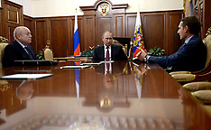 Moscow: Russian President Putin meets with Naryshkin and Fradkov, 23 September 2016