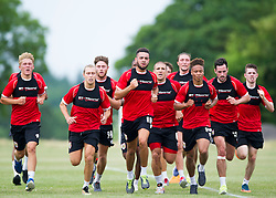 Bristol City players run in pre season training  - Photo mandatory by-line: Joe Meredith/JMP - Mobile: 07966 386802 - 01/07/2015 - SPORT - Football - Bristol - Failand Training Ground - Bristol City Pre-Season Training