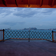 Manhattan seen from the Staten Island Ferry.