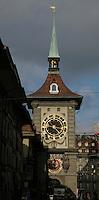 BERN, Fussball, Euro 2008 Vorschau, Staedte, Bern,Die Zytglogge (Zeitglocke) das Wahrzeichen in Bern  ,Foto:Pressefoto Ulmer/Schaadfoto/Andreas Schaad PUBLICATION NOT IN AUT