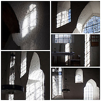 Light shapes at the Anglo Saxon church at Escomb, Northumberland