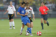21 August 2008: Homare Sawa (JPN) (10) and Simone Laudehr (GER) (14). Germany's Women's National Team defeated Japan's Women's National Team 2-0 at the Worker's Stadium in Beijing, China in the Bronze Medal match in the Women's Olympic Football tournament.