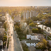 Woolwich road and St. Georges Church, Guelph Ontario