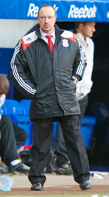 BOLTON, ENGLAND - Sunday, March 2, 2008: Liverpool's manager Rafael Benitez during the Premiership match against Bolton Wanderers at the Reebok Stadium. (Photo by David Rawcliffe/Propaganda)