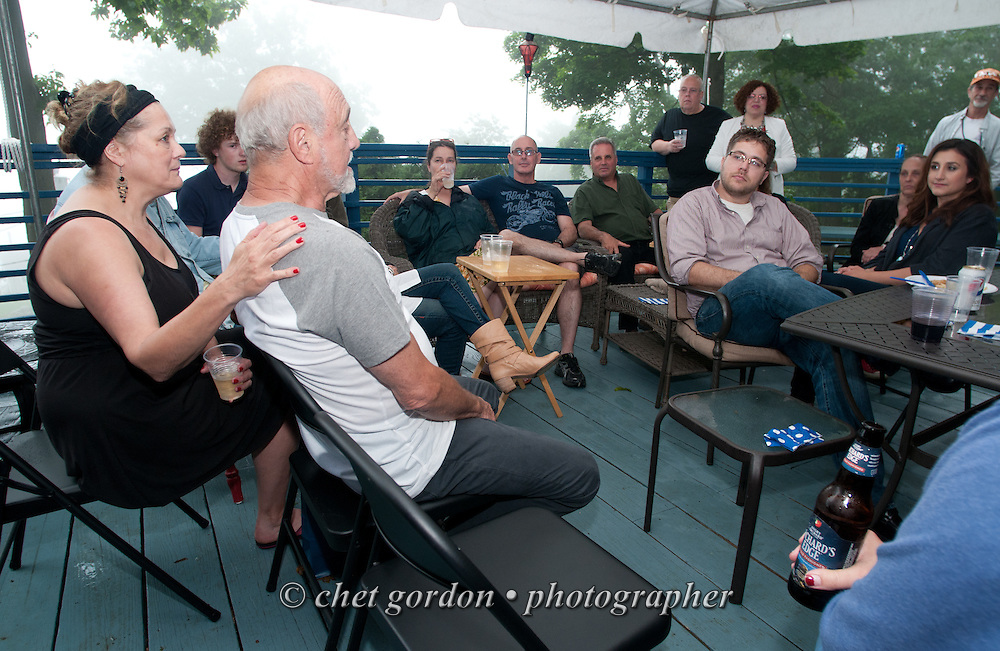 Dick Piazza's 80th. birthday and 10th. wedding anniversary party celebration at his Greenwood Lake, NY home on Sunday, June 5, 2016.  © Chet Gordon • Photographer