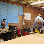 Preparing the boat building kits  a few months before the event.