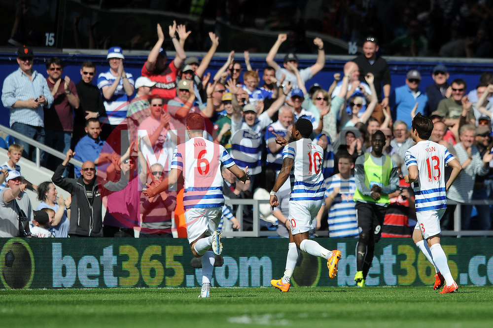 Queens Park Rangers' Leroy Fer celebrates his goal - Photo mandatory by-line: Dougie Allward/JMP - Mobile: 07966 386802 - 16/05/2015 - SPORT - football - London - Loftus Road - QPR v Newcastle United - Barclays Premier League