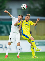 Branislav Jankovic of Cukaricki vs Slobodan Vuk of Domzale during 1st Leg football match between NK Domzale (SLO) na FC Cukaricki (SRB) in 1st Round of Europe League 2015/2016 Qualifications, on July 2, 2015 in Sports park Domzale,  Slovenia. Photo by Vid Ponikvar / Sportida