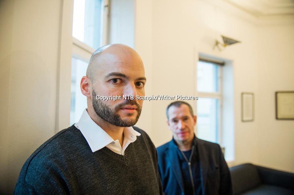 Oslo  20140226.<br /> Carsten Jensen og Anders S&macr;mme Hammer (tv) har skrevet boken &quot;Alt dette kunne v&Ecirc;rt unng&Acirc;tt&quot; , om krigen i Afghanistan. <br /> Foto: Fredrik Varfjell / NTB scanpix<br /> <br /> NTB Scanpix/Writer Pictures<br /> <br /> WORLD RIGHTS, DIRECT SALES ONLY, NO AGENCY