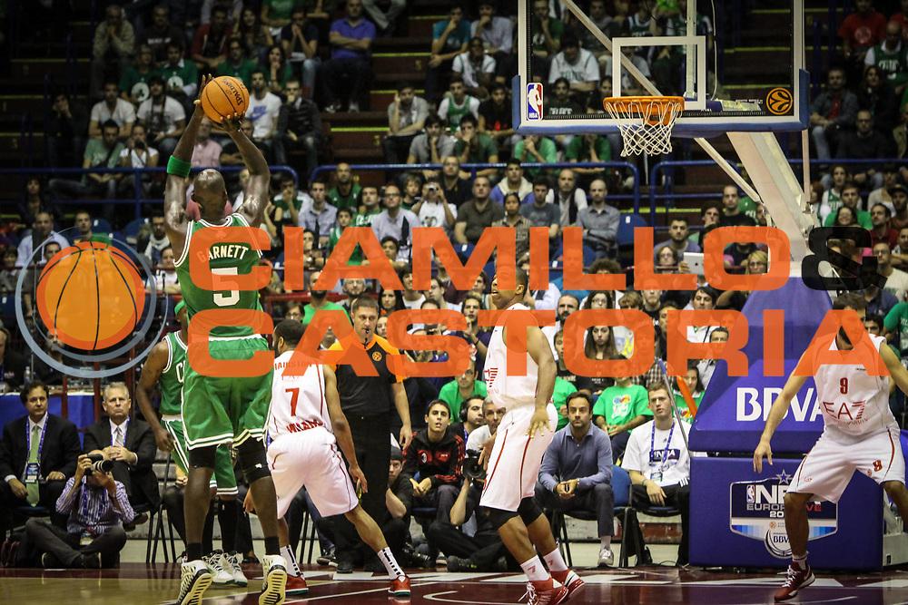 DESCRIZIONE : Milano Nba Europe Live Tour 2012 Ea7 Emporio Armani Milano Boston Celtics<br /> GIOCATORE : Kevin Garnett<br /> CATEGORIA : tiro controcampo<br /> SQUADRA : Boston Celtics<br /> EVENTO : Campionato Lega A 2012-2013<br /> GARA : Ea7 Emporio Armani Milano Boston Celtics<br /> DATA : 07/10/2012<br /> SPORT : Pallacanestro <br /> AUTORE : Agenzia Ciamillo-Castoria/A.Catellani<br /> Galleria : Lega Basket A 2012-2013  <br /> Fotonotizia : Milano Nba Europe Live Tour 2012 Ea7 Emporio Armani Milano Boston Celtics<br /> Predefinita :