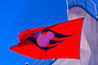 Disney Cruise Line flag, Disney Dream cruise ship sailing between Florida and the Bahamas