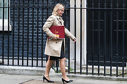 Downing Street, London, October 18th 2016. Education Secretary Justine Greening arrives at the weekly cabinet meeting at 10 Downing Street in London.