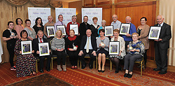 Members of the various Tidy Towns groups from Roscommon pictured with Minister of State for Rural Development Michael Ring TD at the North West and West Region Awards ceremony in Westport recently.<br /> Pic Conor McKeown