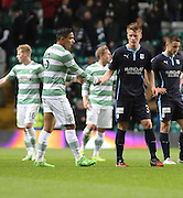 Dundee's Calvin Colquhoun shakes hands with Celtic's Emilio Izaguirre at the end -  Celtic v Dundee - SPFL Premiership at Celtic Park<br /> <br /> <br />  - © David Young - www.davidyoungphoto.co.uk - email: davidyoungphoto@gmail.com