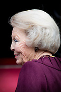 AMSTERDAM - Princess Beatrix at the annual gala dinner for the Corps Diplomatique in the Royal Palace on Dam Square in Amsterdam. copyrighht robin utrecht