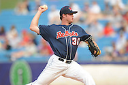 Mississippi's Aaron Barrett pitches vs. Alabama during the Southeastern Conference tournament at Regions Park in Hoover, Ala. on Thursday, May 27, 2010. Alabama won 6-3. (AP Photo/Oxford Eagle, Bruce Newman)