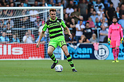 Forest Green Rovers Mark Roberts(21) passes the ball forward during the EFL Sky Bet League 2 match between Wycombe Wanderers and Forest Green Rovers at Adams Park, High Wycombe, England on 2 September 2017. Photo by Shane Healey.