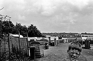 Children from the Cow Roast illegal Irish Travellers site, near Tring (Hertfordshire), a few days before the 20 Irish Travellers families were evicted in July 2003.