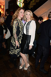 Left to right, ALICE TEMPERLEY and actress NATALIE DORMER at the launch of Gordon's 'Ten Green Bottles' by Temperley London held at Temperley London Flagship, 27 Bruton Street, London on 6th November 2013.