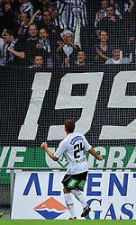 23.07.2011, UPC Arena, Graz, AUT, 1. FBL, Sturm vs Mattersburg, im Bild Jubel nach dem 1 zu 0 durch Roman Kienast, (Sturm, #24), EXPA Pictures © 2011, PhotoCredit: EXPA/ S. Zangrando