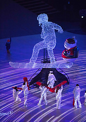 March 9, 2018 - Pyeongchang, South Korea - Artists perform during Opening Ceremony for the 2018 Pyeongchang Winter Paralympic Games. (Credit Image: © Mark Reis via ZUMA Wire)