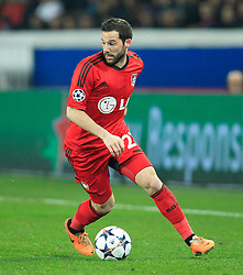 12.03.2014, Parc des Princes, Paris, FRA, UEFA CL, Paris Saint Germain vs Bayer 04 Leverkusen, Achtelfinale, Rueckspiel, im Bild Gonzalo Castro #27 (Bayer 04 Leverkusen), Aktion, Action // during the UEFA Champions League Round of 16, 2nd Leg match between Paris Saint Germain and Bayer 04 Leverkusen at the Parc des Princes in Paris, France on 2014/03/12. EXPA Pictures © 2014, PhotoCredit: EXPA/ Eibner-Pressefoto/ Schueler<br /> <br /> *****ATTENTION - OUT of GER*****