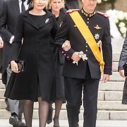 LUX/Luxemburg/20190504 - Funeral of HRH Grand Duke Jean/Uitvaart Groothertog Jean,Koning Philippe van belgie met Koningin Mathilde
