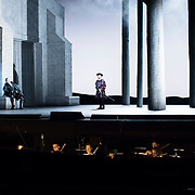 September 23, 2015 - New York, NY : From left, Stephen Costello (as Lord Richard Percy) and David Crawford (as Lord Rochefort) perform in a dress rehearsal for Gaetano Donizetti's 'Anne Bolena' at the Metropolitan Opera at Lincoln Center on Wednesday. CREDIT: Karsten Moran for The New York Times