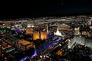 Aerial tour, Las Vegas at night, NevadaNight helicopter flight, Las Vegas, Nevada